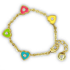 bracelet with heart charms images Heart charms bracelet kids jewelry hypoallergenic jewelry for png