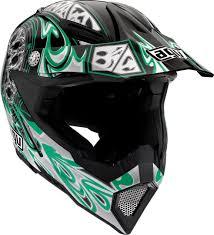 green motocross helmet agv grisoft agv ax 8 5 gothic flame motocross helmet black