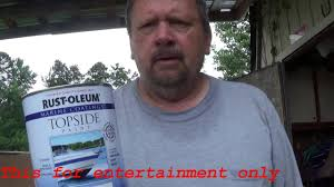 rust oleum topside paint robalo boat project 60 youtube