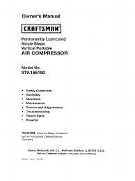 craftsman air compressor manual 919 165190 ac power plugs and
