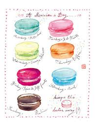 a macaron a day 8x10 print macaron poster watercolor painting