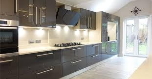 grey kitchen design contemporary gloss grey kitchen design from premier kitchens 0