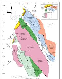 Map Of Al Geological Map Of Jabal Sumeini After Watts 1990 And Searle Et