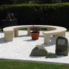Curved Sofa Uk by Modern Grand Curved Stone Bench Large Garden Benches S U0026s Shop