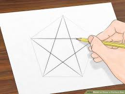 how to how to draw a perfect star 13 steps with pictures wikihow