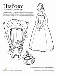 colonial boy coloring page fashion through the years printable history paper dolls education com