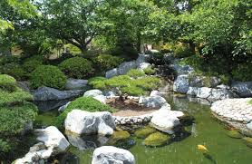 amazing and cool pond exterior decoration ideas rock feature koi
