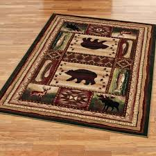 bear wilderness rustic area rugs