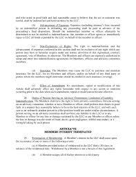 company operating agreement sample llc operating agreement
