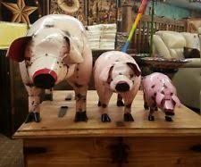 pig metal statues lawn ornaments ebay