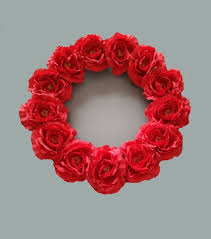 decorative wreaths for the home 16 inches red artificial rose wreaths christmas decoration home