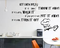Wall Decals For Dining Room Kitchen Rules Decal Etsy