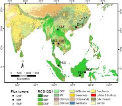 Monsoon Asia Map by Remote Sensing Free Full Text Comparison Of Gross Primary