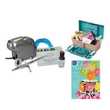 buy cake decorating airbrush kit air compressor americolor 4 color
