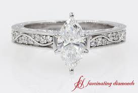 marquise diamond engagement ring antique looking marquise diamond engagement ring in white gold