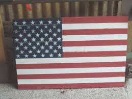 35 collection of rustic american flag wall
