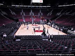 moda center section 107 seat views seatgeek