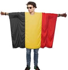 Belgia Flag Unisex Belgian Flag Poncho Onesize Belgium Fancy Dress Supporter