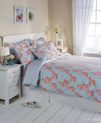 blue floral cotton bedding bed linen duvet cover set or
