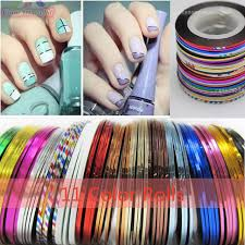 aliexpress com buy multicolored rolls striping tape line diy