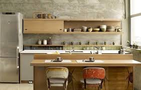 Wall Shelves Design For Kitchen Appealing Open Wall Shelves And Bright Island Neighboring Tall