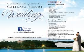 Wedding Packages Caliraya Resort Club Inc U2022 Wedding