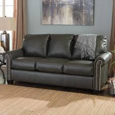 Navy Sleeper Sofa by Signature Design By Ashley Lottie Durablend Transitional Bonded
