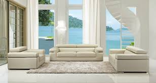 modern bonded leather sofa set