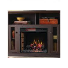 28 in infrared quartz electric fireplace insert with flush mount