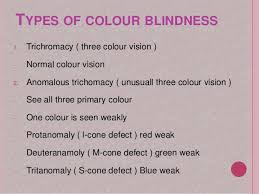 Most Common Type Of Color Blindness Colour Blindness Ppt By Meera Qaiser