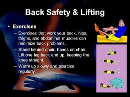 Chair Lifting Experiment Back Safety In The Workplace Ppt Video Online Download