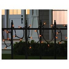 100ct indoor outdoor halloween mini string lights orange hyde
