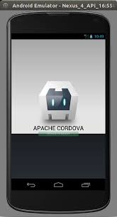 half android cordova run android on emulator shows half black screen stack