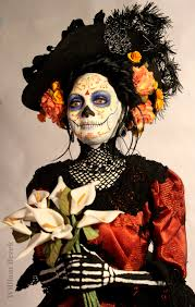day of the dead makeup for halloween william bezek doll that is perfect but can i knit the collar
