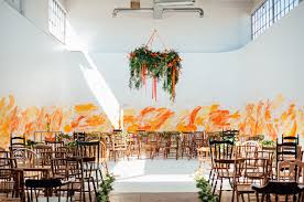 Bright Orange Paint by Our Favorite Wedding Decor Details From 2016 Green Wedding