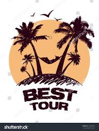 best tour design template tropical view stock vector 119370685
