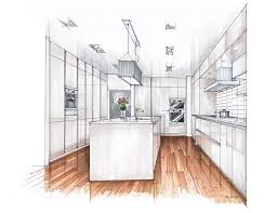 Sketch Kitchen Design by Inspirational Kitchen Marker Rendering Google Search Marker