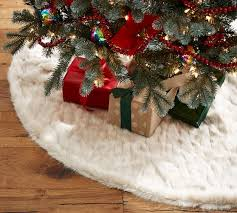 faux fur tree skirt 25 pottery barn christmas and tree skirts sale must