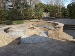 outdoor living firepit with bluestone seating area haammss