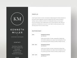 Portfolio Folder For Resume Kenneth Miller Resume Cv Template Resume Templates Creative