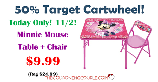 Minnie Mouse Table And Chairs 50 Target Cartwheel 11 2 Minnie Mouse Table Chair Set