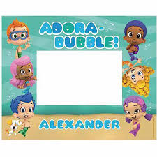 personalized bubble guppies picture frame walmart