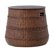 Rattan Accent Table Home Decorators Collection Kerala Brown End Table 1944300820 The