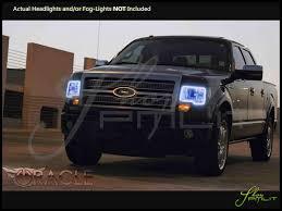 Automotive Led Lights Bulbs by Oracle 09 14 Ford F150 W O Pro Led Halo Rings Head Fog Lights Bulbs