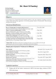 dr ravi s pandey resume for assistant professor research scientist u2026