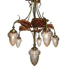Art Nouveau Chandelier Art Nouveau Arts And Crafts Movement 6 Light Chandeldeier Prob