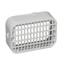 amerimax home products 3 in x 4 in plastic white rodent guard