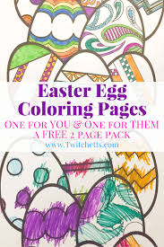 easter egg coloring pages easter printables kids prints