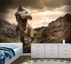 dinosaur t rex custom wallpaper mural printing