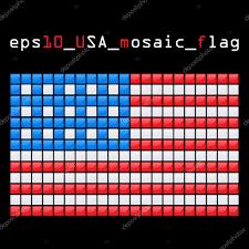 Usa Flag Vector Mosaic Usa Flag U2014 Stock Vector R Lion O 24747475